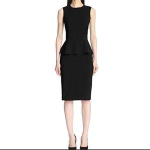 Black Fitted Sleeveless Peplum Dress