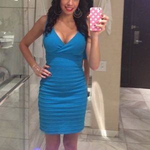 Blue Express bodycon dress 💙🔥
