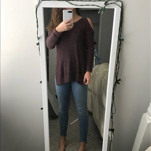 Sweater with holes in shoulder