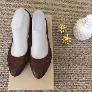 Beautiful Burberry brown leather flats shoes 37
