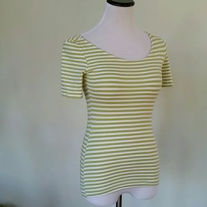 Light green strip french connection contouring top