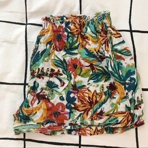 URBAN OUTFITTERS FLORAL/TROPICAL SHORTS