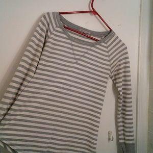 Gap Crew Neck Striped Long Sleeved Comfy Shirt