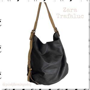 Zara Trafaluc Pebbled Gray Hobo Shoulder Bag TRF