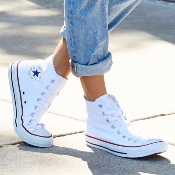 andlig systematiskt Föra  Converse Shoes | Womens High Top White Sneakers | Poshmark