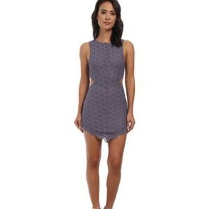 NWT Free People Lavender (Dusk) Lace Cutout Dress