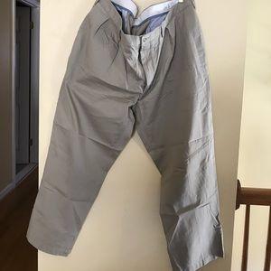 Polo Ralph Lauren pleated khaki pants.