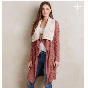 Anthro Lilitz Cardigan by Knitted & Knotted Sz S