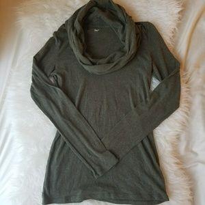 Gap Long Sleeve Cowl Neck Shirt