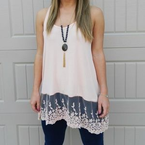 Lace Trimmed Tank