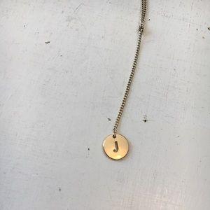 """American Eagle """"J"""" letter Lariat Golden Necklace"""
