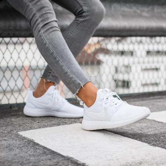 f3daa58c3ce5 Women s Nike Roshe Two White Sneakers