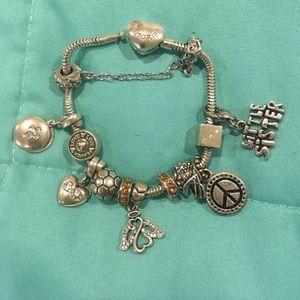 Kay's memories bracelet, with pendents