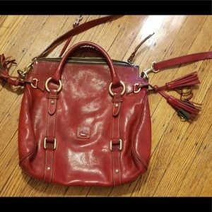 Red Leather Dooney and Burke