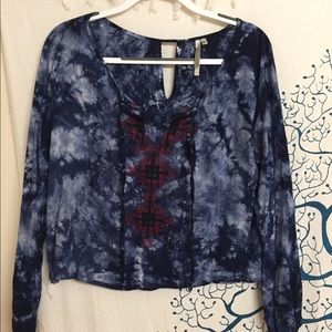Urban Outfitters tie-dye blouse
