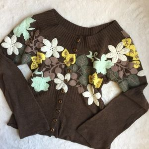 Moh Hickory & Oak Embroidered Cardigan