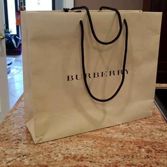 92d9a09fb63f Burberry Handbags - Medium size Burberry shopping bag