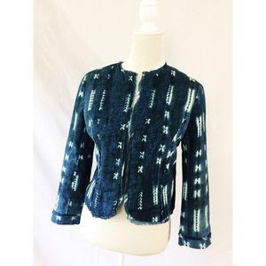 Anthropologie Dil Jean Shibori style Blazer Size S
