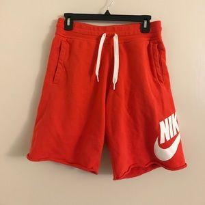 Nike red orange shorts