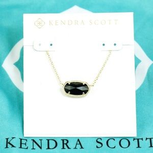 Kendra Scott Elisa Black necklace gold Tone