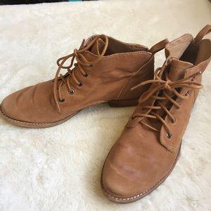 Sam Edelman Mare Distressed Cognac Leather Boot