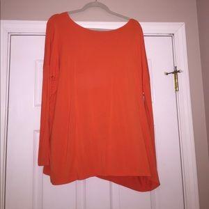 orange long sleeve piko