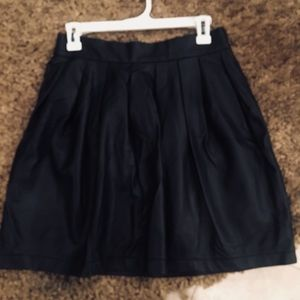 Sexy Black leather skirt