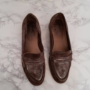 Women's Brown Leather Penny Loafers