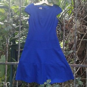 Anne Klein royal blue Epic casual career dress 2