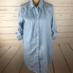Forever 21 Light Blue Chambray Tunic Size L