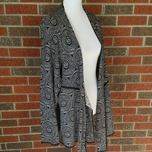 Circle Pattern Front Open Cardigan