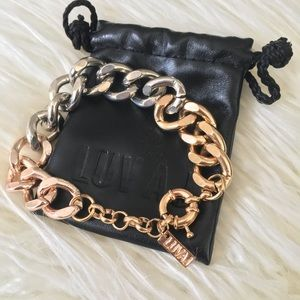 NWOT 3 Tone Gold Plated Ombre Chainlink Bracelet