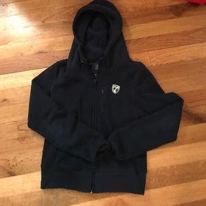 American Eagle Size M zip fleece hoodie- navy