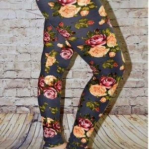 Plus size Floral soft leggings New