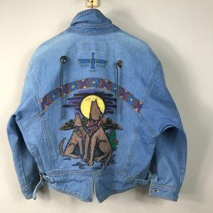Vintage 80s Gitano denim jean jacket southwest