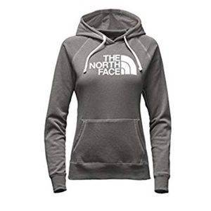 Gray north face hoodie