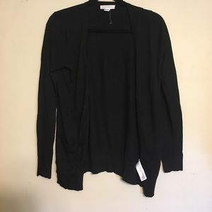 Plain black cardigan with buttons