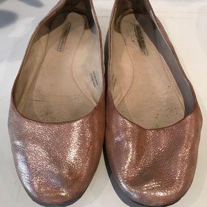 Shimmery pink Vera Wang ballet flats