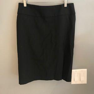 Leopard pattern lined black skirt