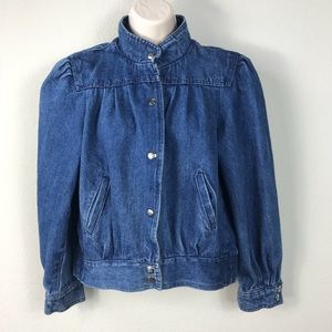 Vintage 80s South Africa blue denim jean jacket