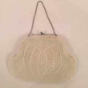 Vintage Seed Pearl Wristlet/Clutch