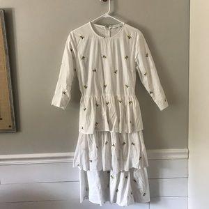 """English Factory"" embroidered midi dress"