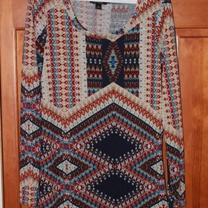 Aztec long sleeve blouse!
