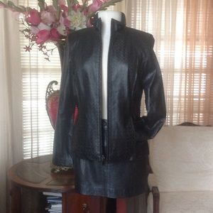Kenneth Cole soft black leather