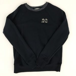 Abercrombie and Fitch navy blue sweater size M