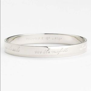 "Kate Spade bridal ""Happily Ever After"" bangle"