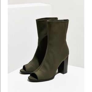 Olive Green Urban Outfitters Open Toe Boots