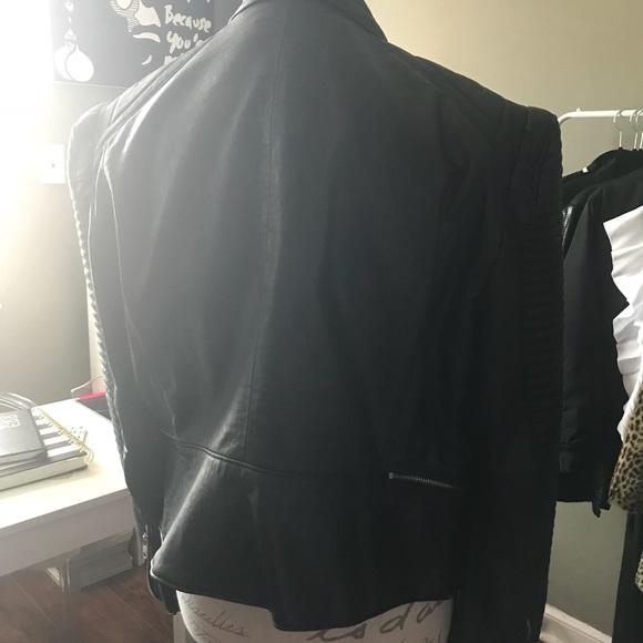 Zara Jackets & Coats - Leather Effect Jacket