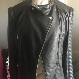 Zara Jackets & Coats - Leather Effect Jacket