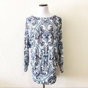 Boston Proper paisley tunic size medium